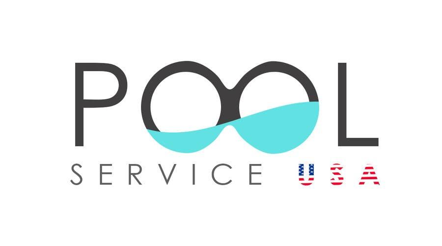 Konkurrenceindlæg #                                        62                                      for                                         Pool Service USA Logo