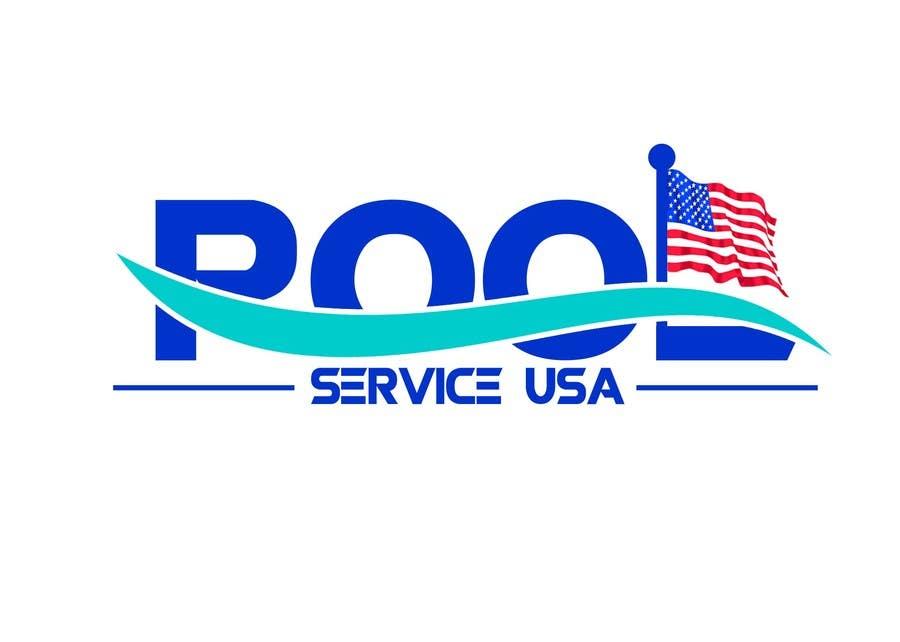 Konkurrenceindlæg #                                        30                                      for                                         Pool Service USA Logo