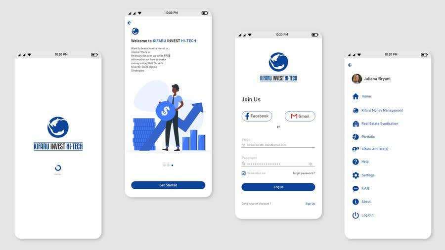 Contest Entry #                                        18                                      for                                         DESIGN: On-boarding, UI/UX, and Demo Text Mobile App Design