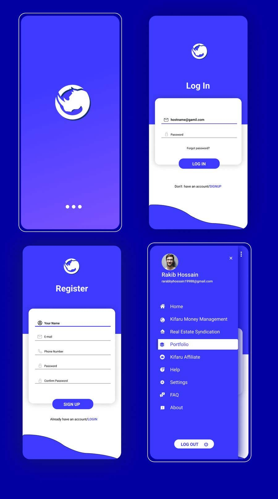 Contest Entry #                                        19                                      for                                         DESIGN: On-boarding, UI/UX, and Demo Text Mobile App Design