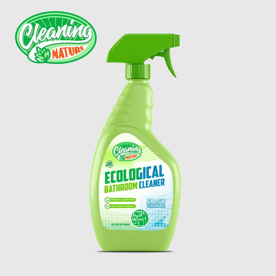 Contest Entry #                                        48                                      for                                         Green Cleaning Product line label