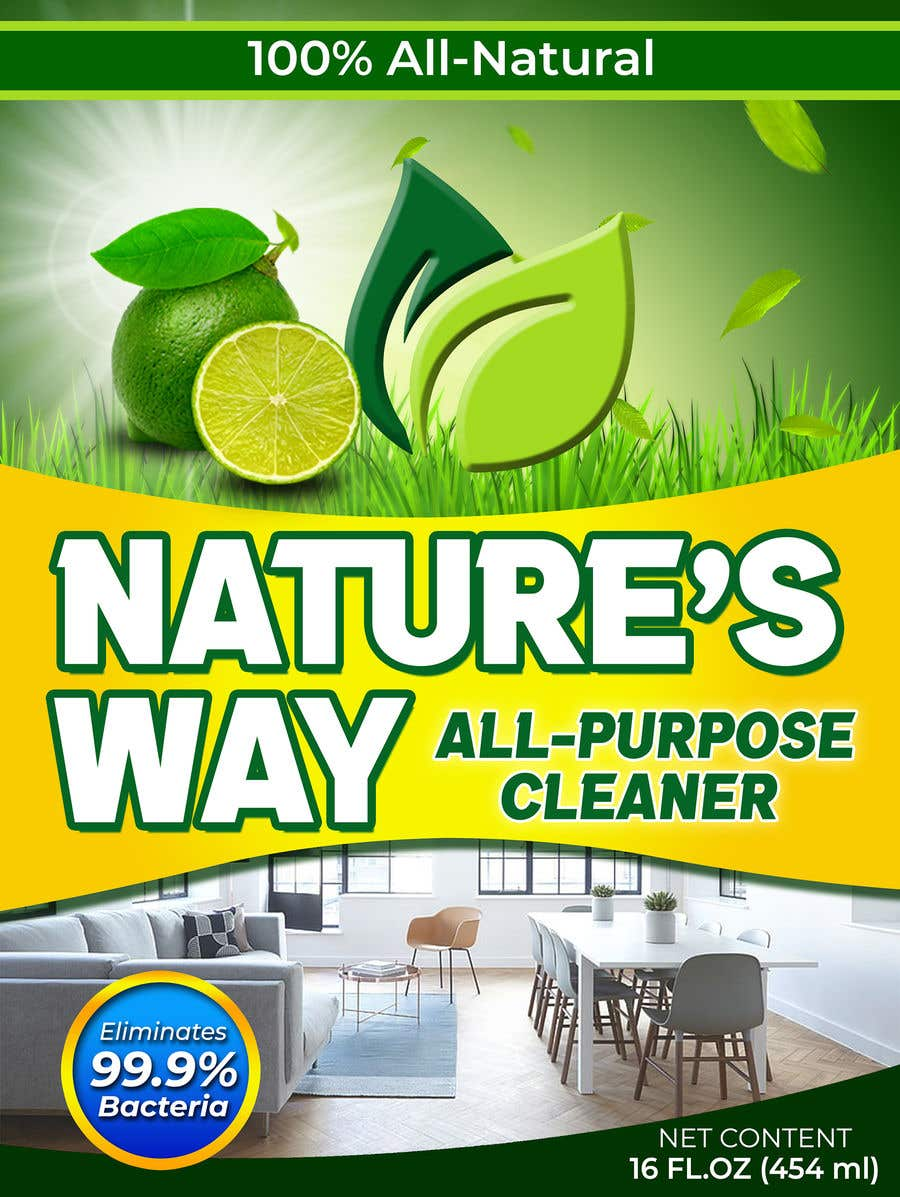 Contest Entry #                                        45                                      for                                         Green Cleaning Product line label