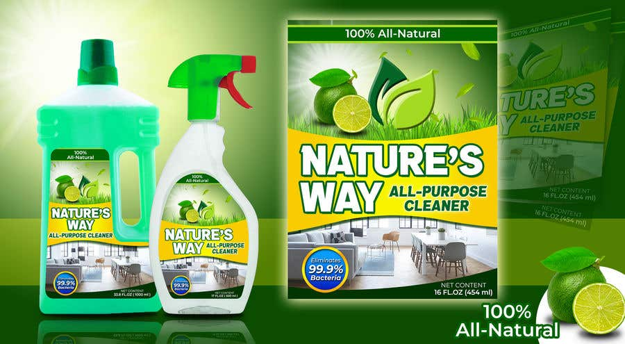 Contest Entry #                                        46                                      for                                         Green Cleaning Product line label