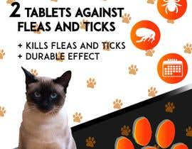 #11 untuk Design concept and 3D renders for a box containing 2 tablets against fleas and ticks for cats oleh ItzelArroniz