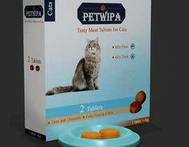 #24 untuk Design concept and 3D renders for a box containing 2 tablets against fleas and ticks for cats oleh ferdousshimu