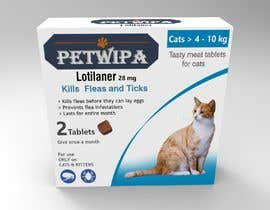 #9 untuk Design concept and 3D renders for a box containing 2 tablets against fleas and ticks for cats oleh siva3dworks