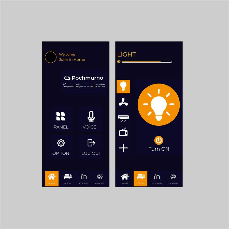 Contest Entry #                                        33                                      for                                         Mobile app design for smart home