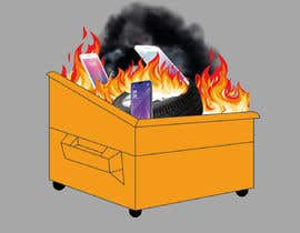 #12 for Dumpster Fire Icon by NoorjahanNadira