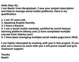 #6 cho Need a Social Media Manager (Instagram, Facebook and Twitter) $100/month bởi bashira447