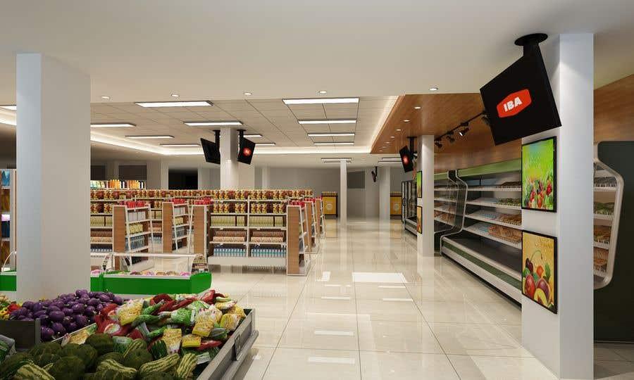 Inscrição nº                                         41                                      do Concurso para                                         Looking for a Supermarket Design/Layout/3D model with a space of 1,499sqm