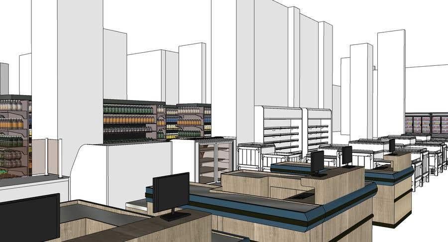 Inscrição nº                                         11                                      do Concurso para                                         Looking for a Supermarket Design/Layout/3D model with a space of 1,499sqm