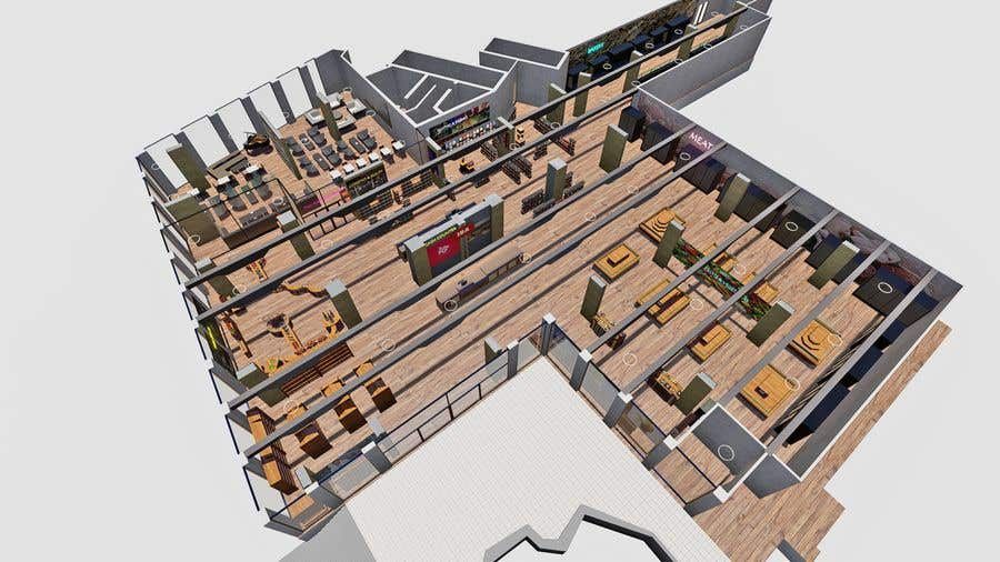 Inscrição nº                                         28                                      do Concurso para                                         Looking for a Supermarket Design/Layout/3D model with a space of 1,499sqm