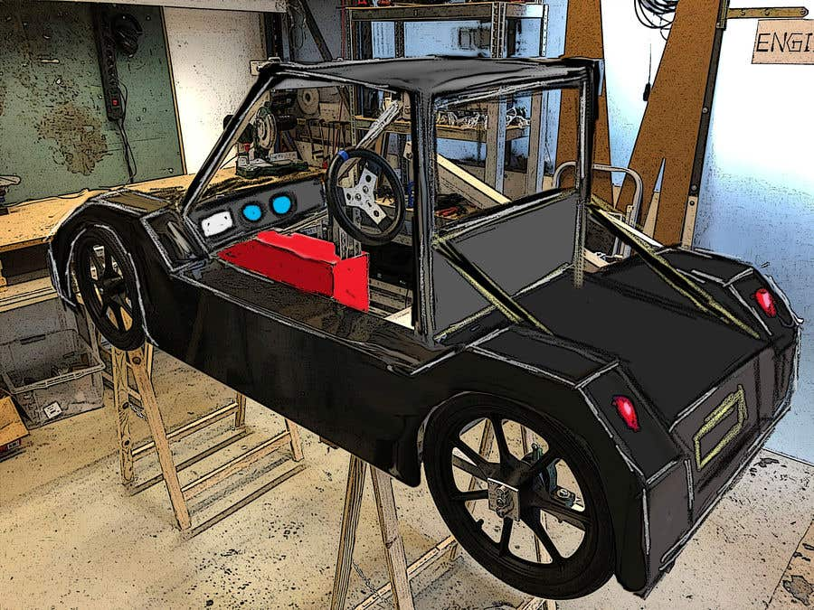 Contest Entry #                                        39                                      for                                         Design sketch for a tiny car for kids
