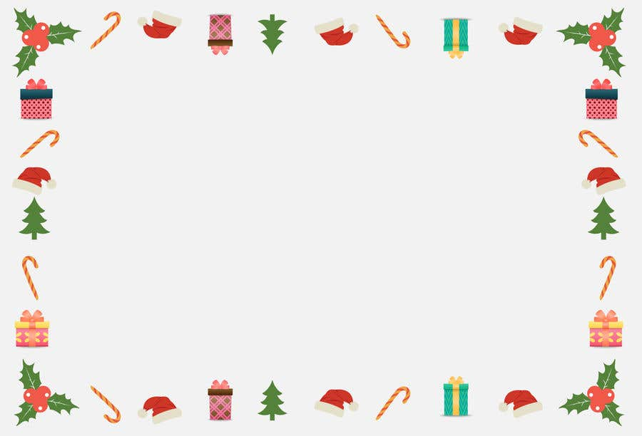 Contest Entry #                                        2                                      for                                         Christmas Card Postcard Border Design
