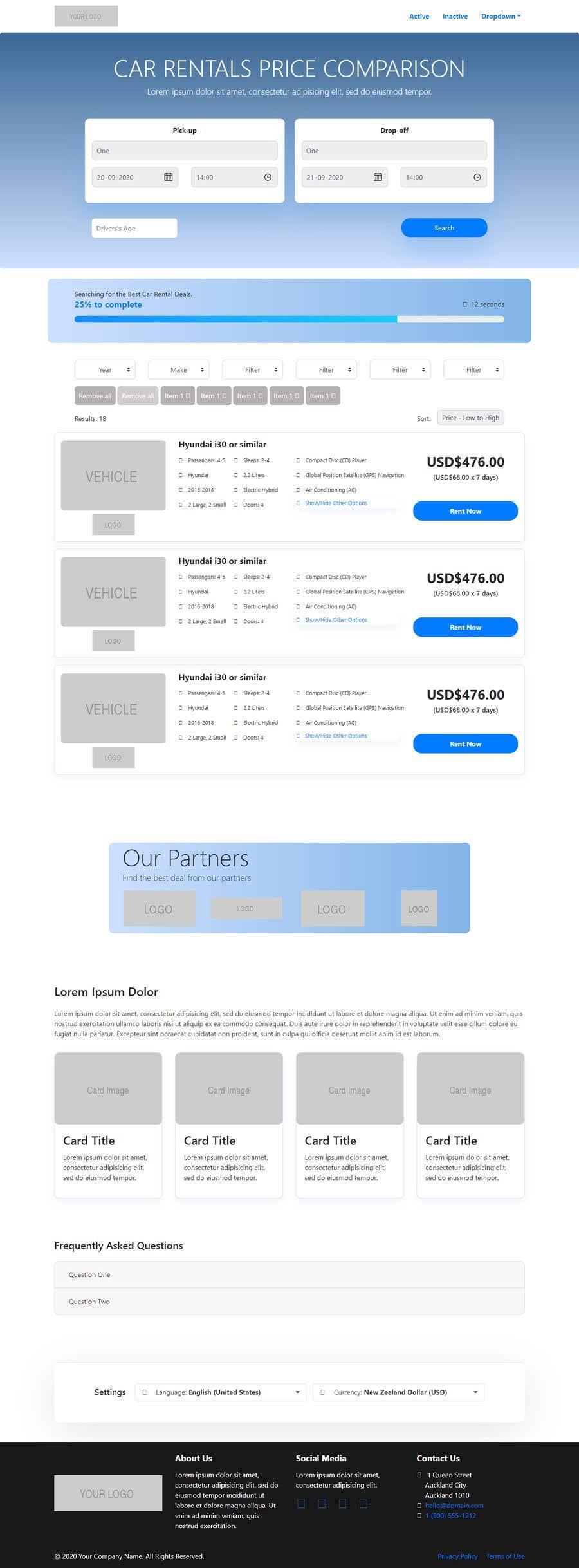 Bài tham dự cuộc thi #                                        18                                      cho                                         Front End Developer - 100% CSS Web Design