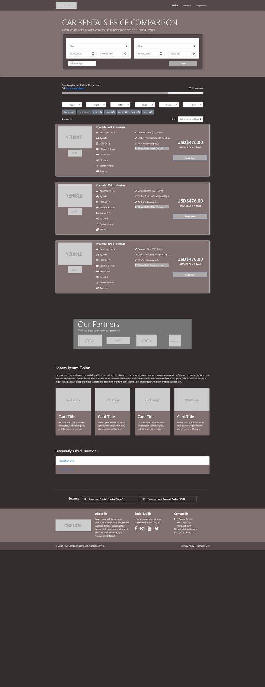 Bài tham dự cuộc thi #                                        29                                      cho                                         Front End Developer - 100% CSS Web Design