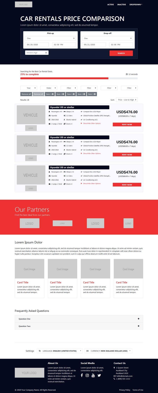 Bài tham dự cuộc thi #                                        11                                      cho                                         Front End Developer - 100% CSS Web Design