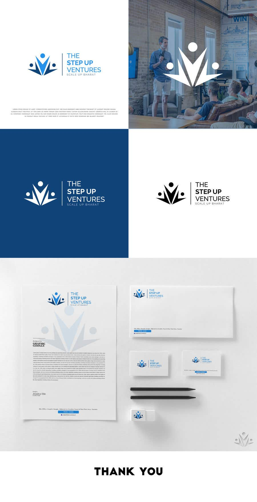 Konkurrenceindlæg #                                        130                                      for                                         Logo Contest and Basic Stationary Design - Business Card, Letter Head, and PPT Template
