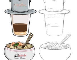 #2 для 2 QUICK ILLUSTRATIONS: Cartoon Vietnamese Iced Coffee & Vietnamese Pho Bowl от gumelarkrisna1