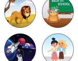khalilahmadbahij tarafından Round Sticker Creation!!! Unique kid friendly round stickers needed! Theme of stickers included için no 26