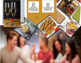 nº 9 pour Créer un désign de menu sous forme de flyer A5 3 volets pour notre restaurant par afrukhtah10