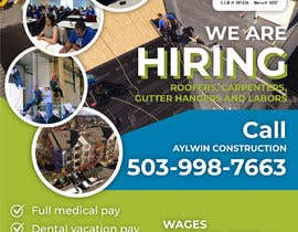 #33 for Need brouchere for hiring roofers by dmned