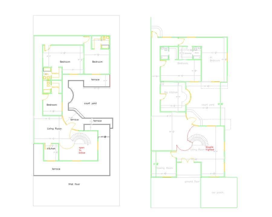 Proposition n°                                        17                                      du concours                                         Build me 2D Floor Plan for 2 Floor house!