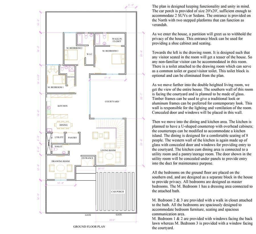 Proposition n°                                        58                                      du concours                                         Build me 2D Floor Plan for 2 Floor house!