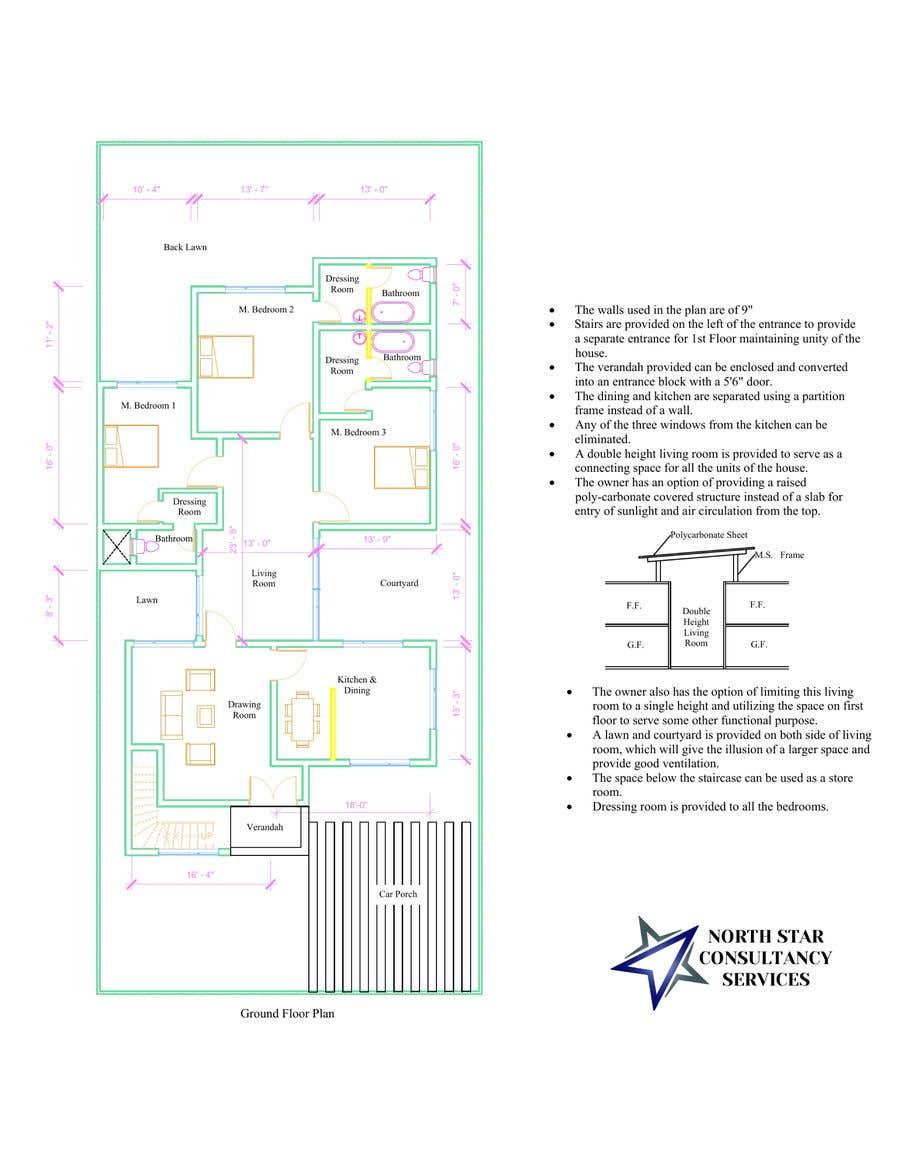 Proposition n°                                        75                                      du concours                                         Build me 2D Floor Plan for 2 Floor house!