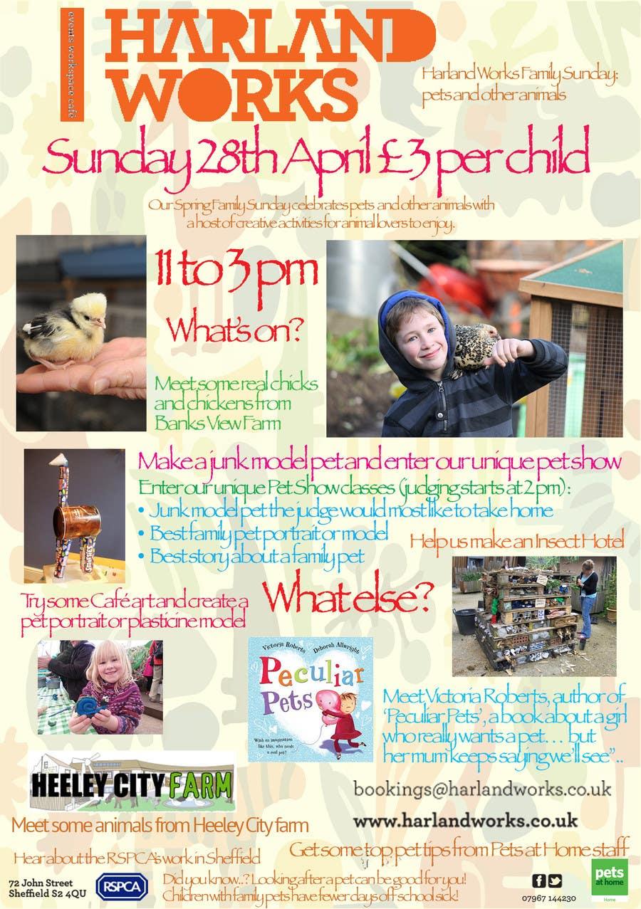 Inscrição nº 21 do Concurso para Flyer Design for Harland Works Spring Family Sunday