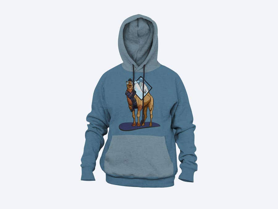 Contest Entry #                                        8                                      for                                         Design for Hoodie (Snowboarding Camel with mountains as humps)