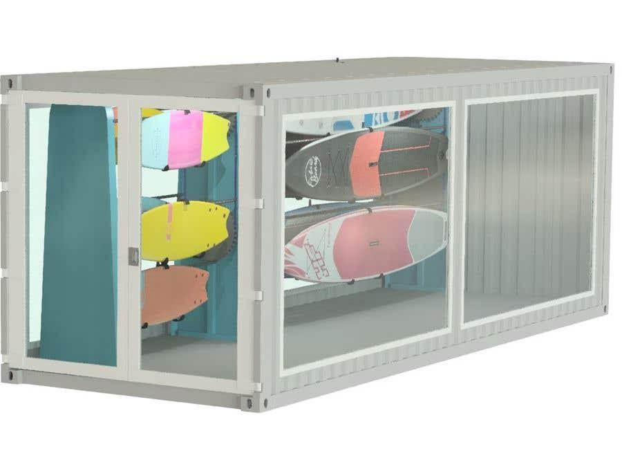 Penyertaan Peraduan #                                        25                                      untuk                                         Design a Surfboard Locker for the Sharing Economy