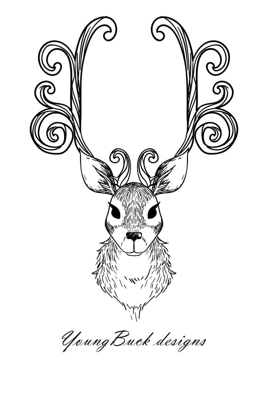 Contest Entry #                                        22                                      for                                         Buck antler logo design