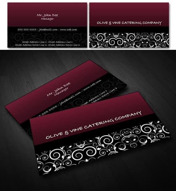 Print Contest Entry #44 for Business Card Design for Catering Company