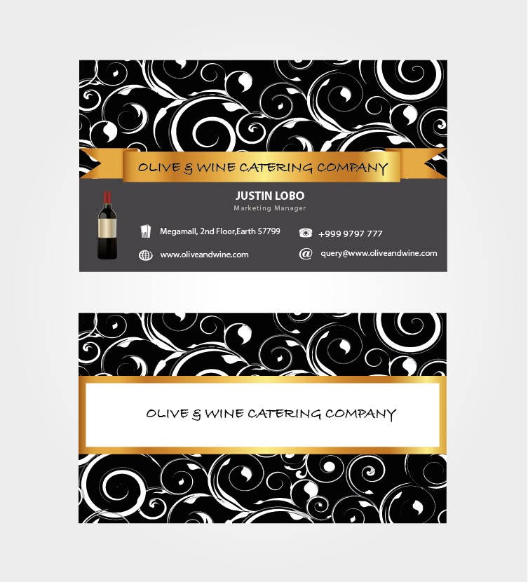 Print Contest Entry #33 for Business Card Design for Catering Company