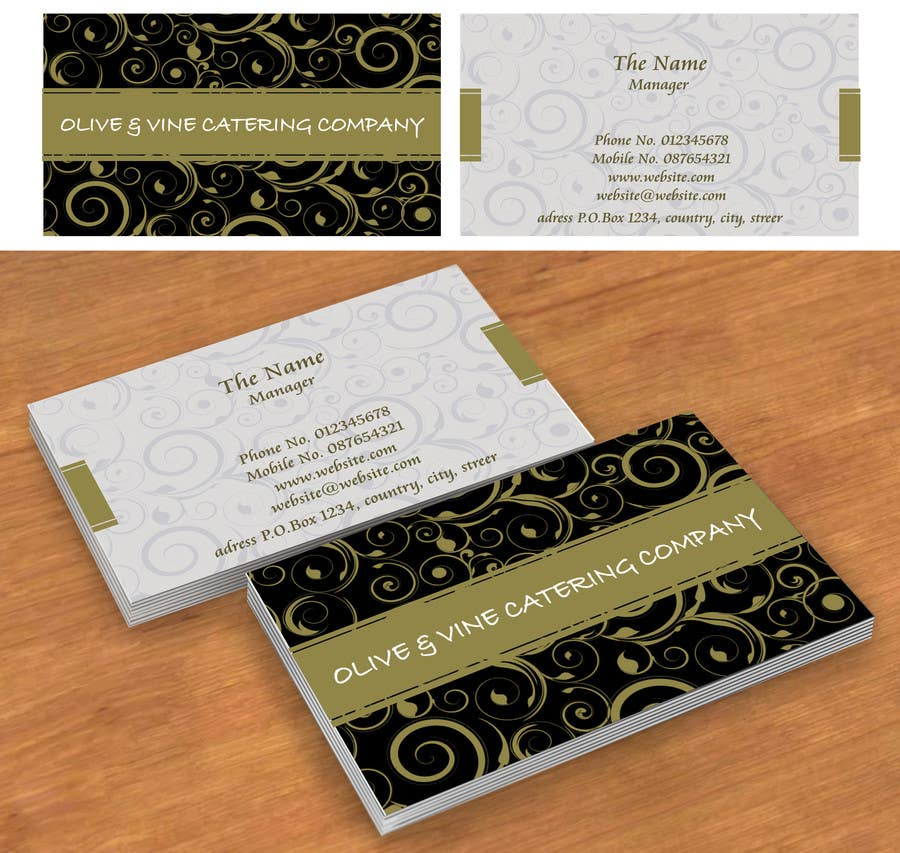 Business Cards Contest Entry #26 for Business Card Design for Catering Company