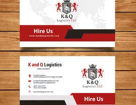 #195 for Business Card Design.... K and Q logistics LLC --- Logo Included by abigailyoselin20