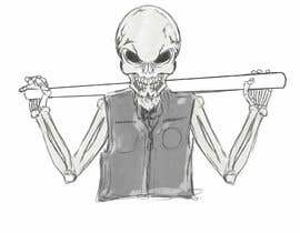 #11 untuk Logo for Gaming / Streamer - Skeleton, Logo, Baseball Bat, Rocker, Sons of Anarchy like oleh Denisdean