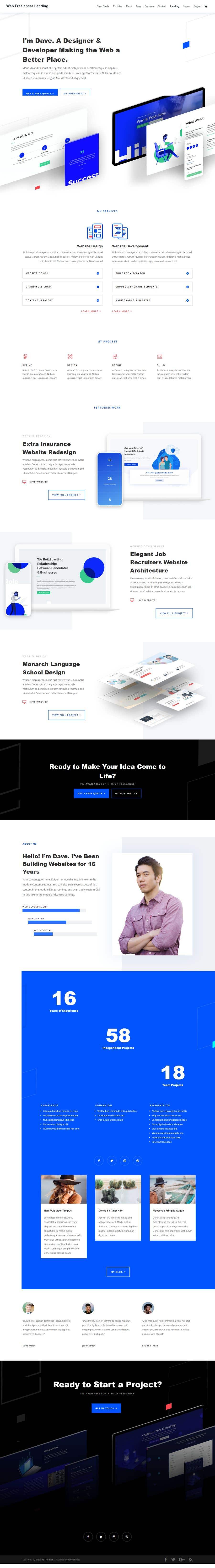 Kilpailutyö #                                        3                                      kilpailussa                                         Design and Build a Website - Awesome Responsive Wordpress site