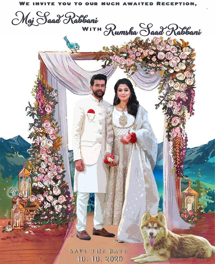 Penyertaan Peraduan #                                        24                                      untuk                                         Wedding Card Illustration
