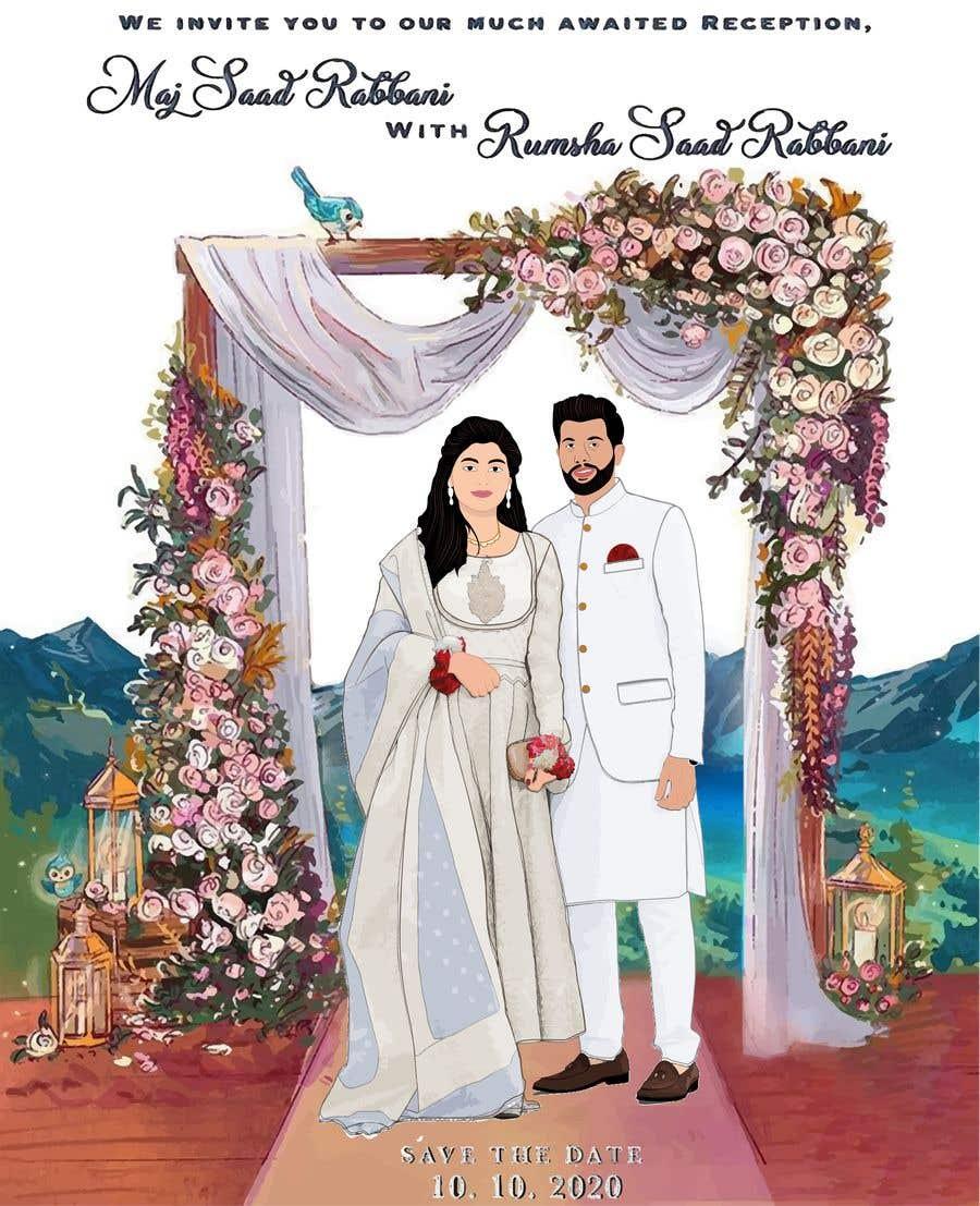 Penyertaan Peraduan #                                        32                                      untuk                                         Wedding Card Illustration