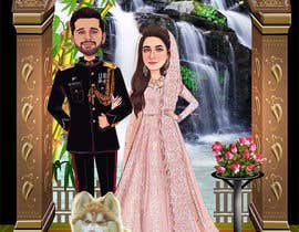 #53 untuk Wedding Card Illustration oleh Nikkonmd2