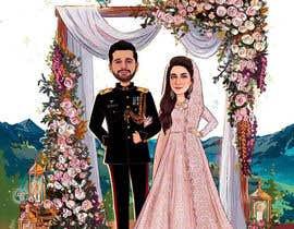#54 untuk Wedding Card Illustration oleh Nikkonmd2