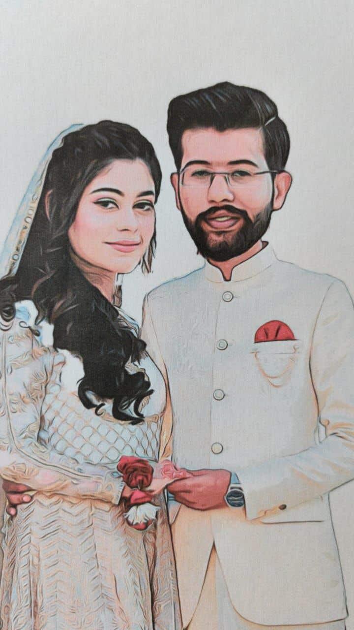 Penyertaan Peraduan #                                        56                                      untuk                                         Wedding Card Illustration