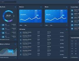 #18 for Finance Dashboard Single Page Mockup Design and Color Palette af LeaveKarnage