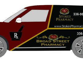zeroyasith tarafından Vehicle Wrap Design Stokes & Broad Street Pharmacy. için no 10