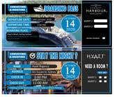 Invitation to Exclusive Event - Boarding Pass Style için Graphic Design37 No.lu Yarışma Girdisi