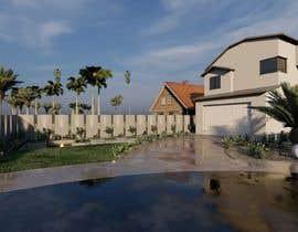 #46 untuk 3D landscape yard design oleh archvizwork