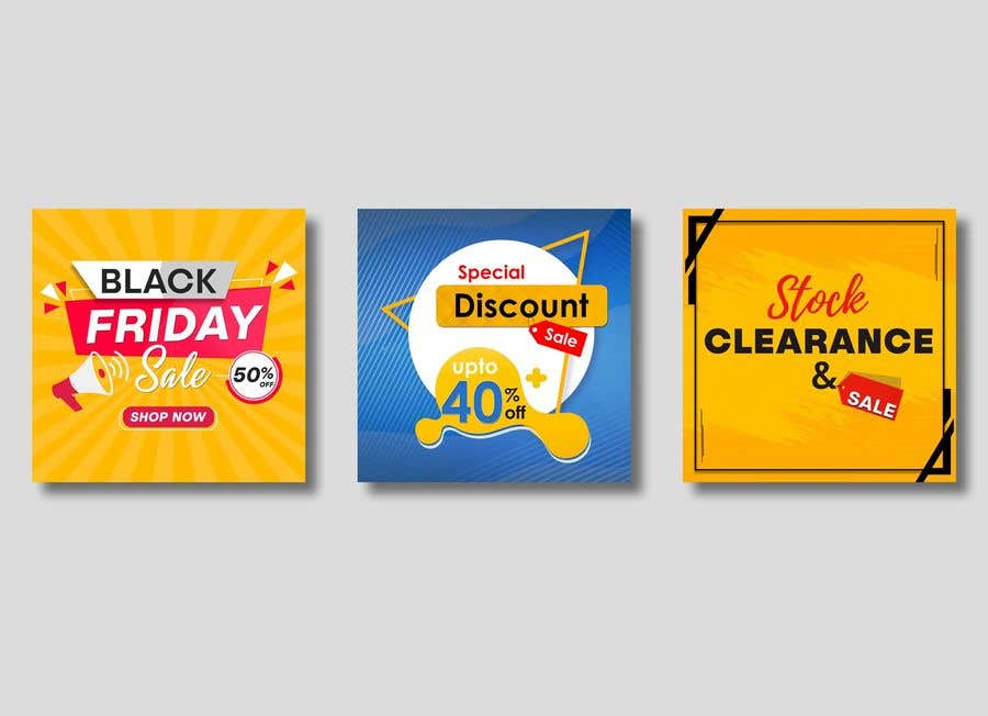 Contest Entry #                                        35                                      for                                         Create 3 banner for: black friday, Stock and offers