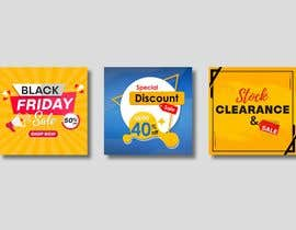 #35 for Create 3 banner for: black friday, Stock and offers by satishandsurabhi
